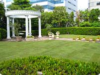 Tホテル屋上庭園