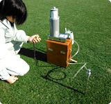 土壌通気性測定
